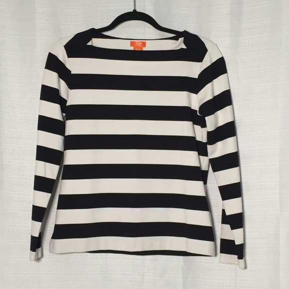 Joe Fresh Wide Black & White Striped LS Tee